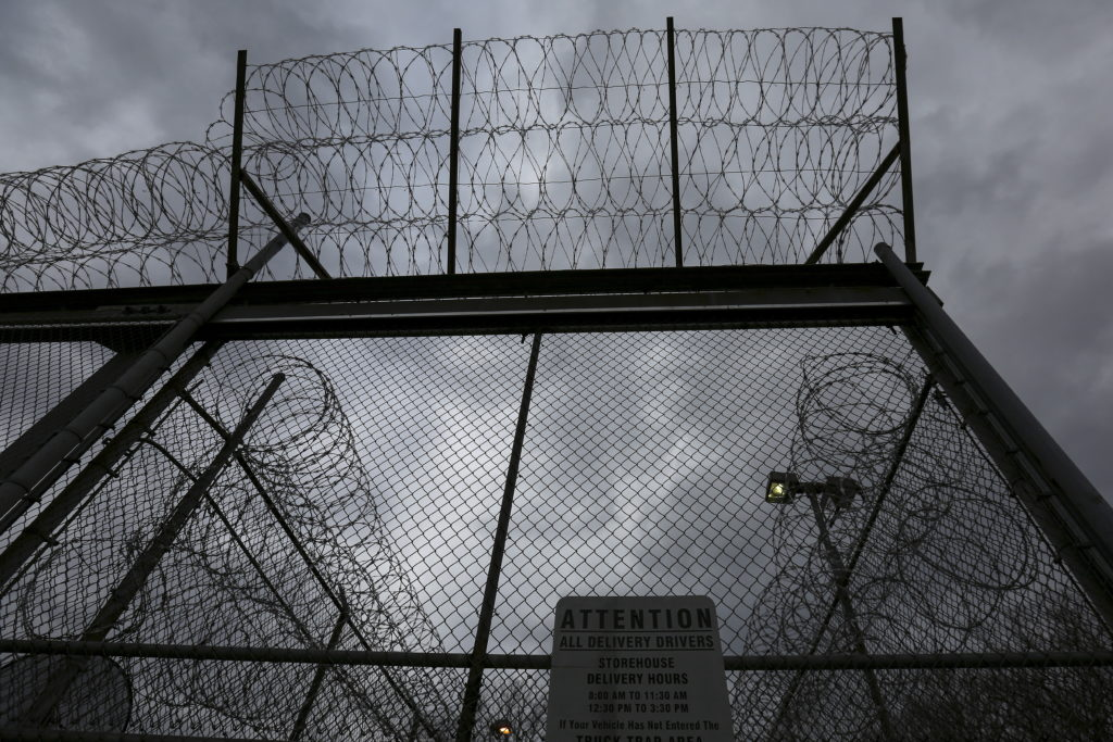 "The front gate is pictured at the Taconic Correctional Facility in Bedford Hills, New York April 8, 2016. Inmates at Taconic Correctional Facility, a medium security women's prison in suburban Bedford Hills near New York City, are reading the classic works of Homer, Euripides and Virgil. The Columbia University course, organised by the non-profit Hudson Link for Higher Education in Prison, aims to boost employment for convicts after release and reduce rates of reoffending. REUTERS/Carlo Allegri SEARCH ""TACONIC ALLEGRI"" FOR THIS STORY. SEARCH ""THE WIDER IMAGE"" FOR ALL STORIES - GF10000379791"