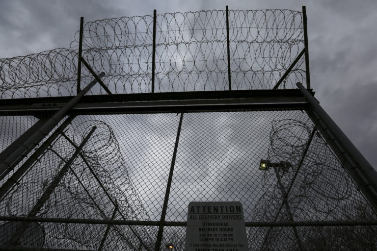 """The front gate is pictured at the Taconic Correctional Facility in Bedford Hills, New York April 8, 2016. Inmates at Taconic Correctional Facility, a medium security women's prison in suburban Bedford Hills near New York City, are reading the classic works of Homer, Euripides and Virgil. The Columbia University course, organised by the non-profit Hudson Link for Higher Education in Prison, aims to boost employment for convicts after release and reduce rates of reoffending. REUTERS/Carlo Allegri SEARCH """"TACONIC ALLEGRI"""" FOR THIS STORY. SEARCH """"THE WIDER IMAGE"""" FOR ALL STORIES - GF10000379791"""