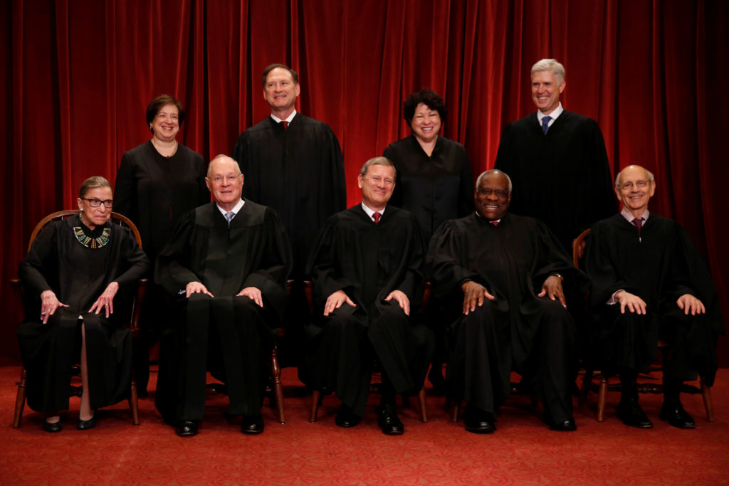U.S. Supreme Court justices in Washington, D.C. File photo by Jonathan Ernst/Reuters