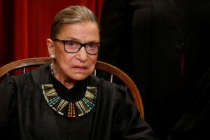 File photo of U.S. Supreme Court Justice Ruth Bader Ginsburg. Photo by Jonathan Ernst/Reuters