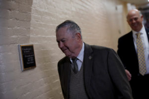 Rep. Dana Rohrabacher arrives for a closed Republican conference meeting on Capitol Hill in Washington, U.S., December 5, 2017. REUTERS/Aaron P. Bernstein - RC1787971F90
