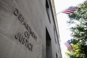 The exterior of the Department of Justice headquarters building in Washington, D.C. Photo by Jonathan Ernst/Reuters
