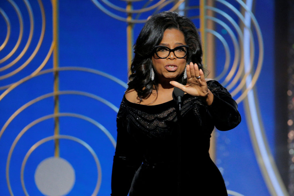 f87789e94a6 Oprah Winfrey speaks after accepting the Cecil B. Demille Award at the 75th  Golden Globe
