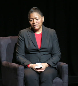 "Venida Browder mother of Kalief Browder speaks at the 2016 ""Tina Brown Live Media's American Justice Summit"" at Gerald W. Lynch Theatre on January 29, 2016 in New York City.  Photo by Paul Zimmerman/WireImage/via  GettyImages"