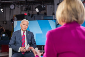 In an interview with the PBS NewsHour's Judy Woodruff, former Vice President Joe Biden discussed the #MeToo movement, saying that he regretted his inability to protect Anita Hill during the Clarence Thomas hearings in 1991. Photo by Frank Carlson