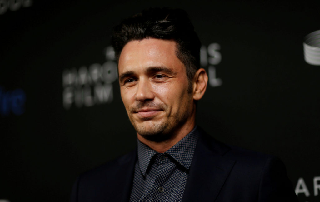 FILE PHOTO: Actor and honoree James Franco poses at the inaugural IndieWire Honors in Los Angeles, California, U.S., November 2, 2017. REUTERS/Mario Anzuoni/File Photo - RC1B18DC0120