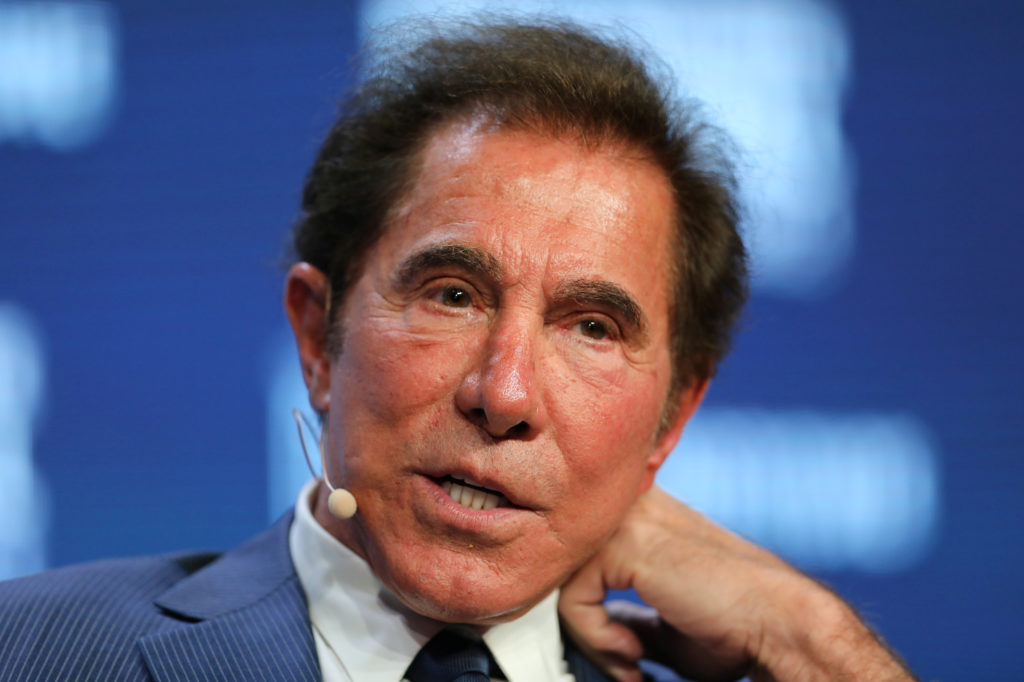 Steve Wynn, Chairman and CEO of Wynn Resorts, speaks during the Milken Institute Global Conference in Beverly Hills, Calif...
