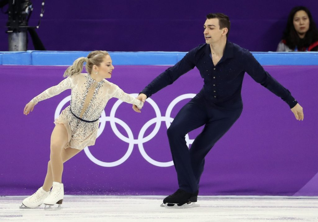 Figure Skating – Pyeongchang 2018 Winter Olympics – Team Event Pair Skating short program – Gangneung Ice Arena - Gangneung, South Korea – February 9, 2018 - Alexa Scimeca Knierim and Chris Kneirim of the U.S. in action. REUTERS/Lucy Nicholson