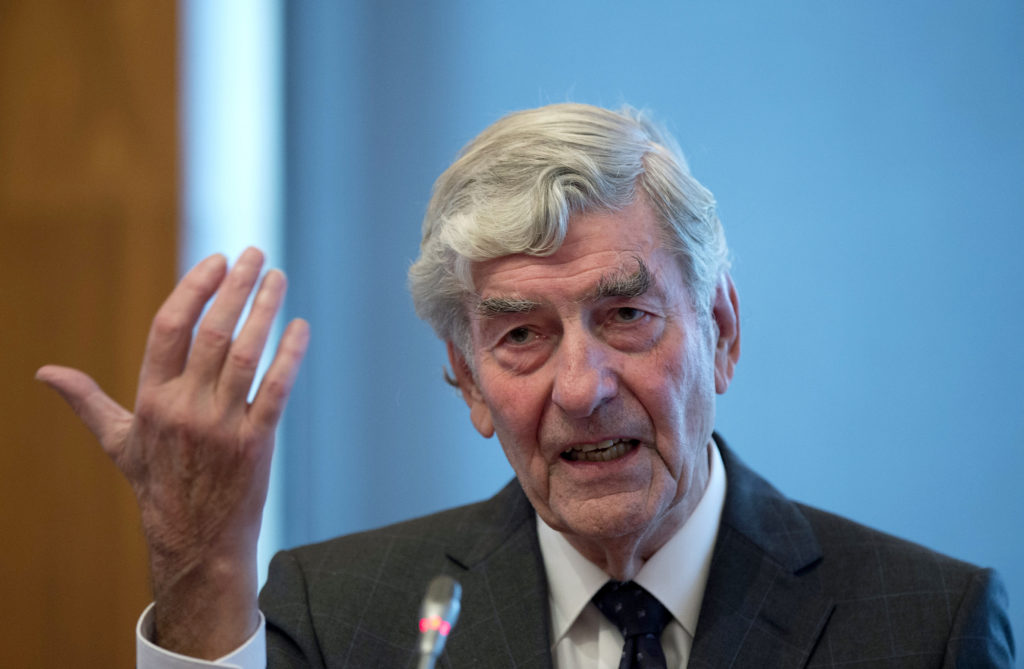 Former Dutch Prime Minister Ruud Lubbers speaks during a conference in October 2013. Photo by Marcel Van Hoorn/AFP/Getty Images