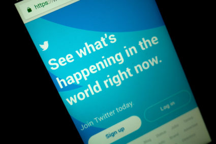 The social media company Twitter said it is emailing notifications to 677,775 people in the U.S. who followed accounts linked to the Russian government-backed Internet Research Agency accused of trying to influence the 2016 U.S. presidential election. Photo by Richard James Mendoza/NurPhoto via Getty Images
