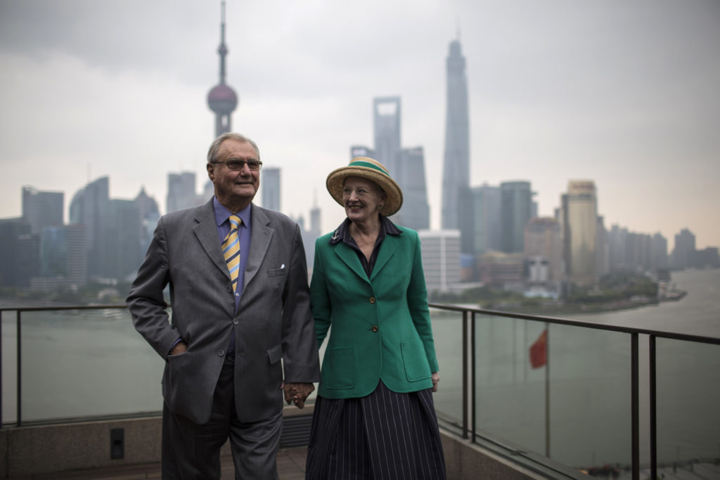 Denmark's Queen Margrethe II and her husband Prince Consort Henrik visited Shanghai, China in 2014. Photo by Aly Song/Reuters