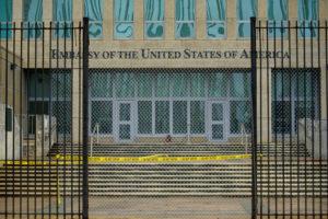 A view of the U.S. Embassy in Havana, Cuba, September 29, 2017. Alexandre Meneghini/Reuters