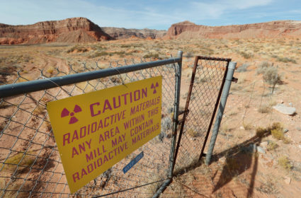 "Uranium One and Anfield's ""Shootaring Canyon Uranium Mill"" facality sits outside Ticaboo"