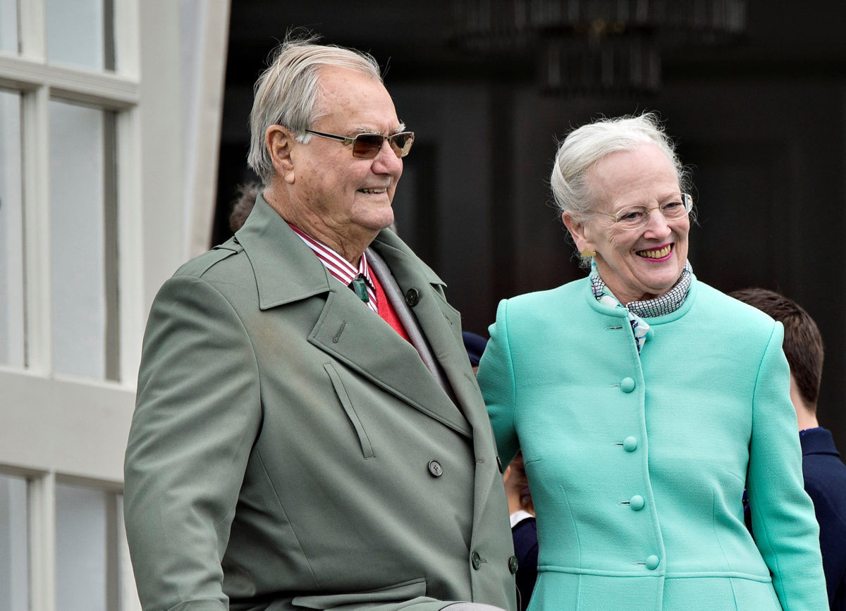Danish Queen Margrethe Poses With Her Husband Prince Consort Henrik In  Photo By Scanpix