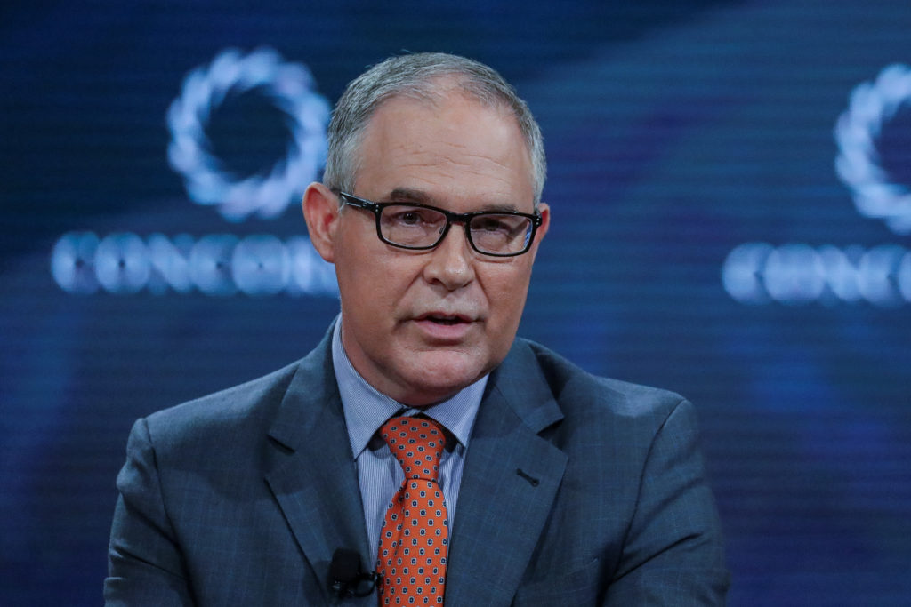 EPA administrator Scott Pruitt answers a question during the 2017 Concordia Summit in Manhattan, New York. Photo by Jeenah Moon/Reuters