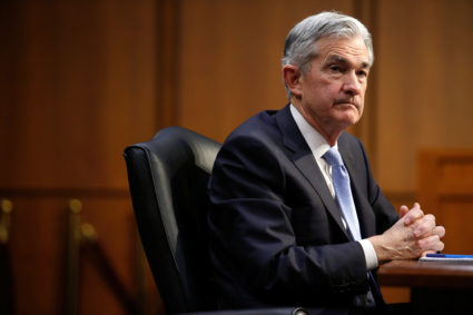 Jerome Powell testifies before the Senate Banking, Housing and Urban Affairs Committee on his nomination to become chairman of the U.S. Federal Reserve in Washington, U.S., November 28, 2017. REUTERS/Joshua Roberts - RC197D007000