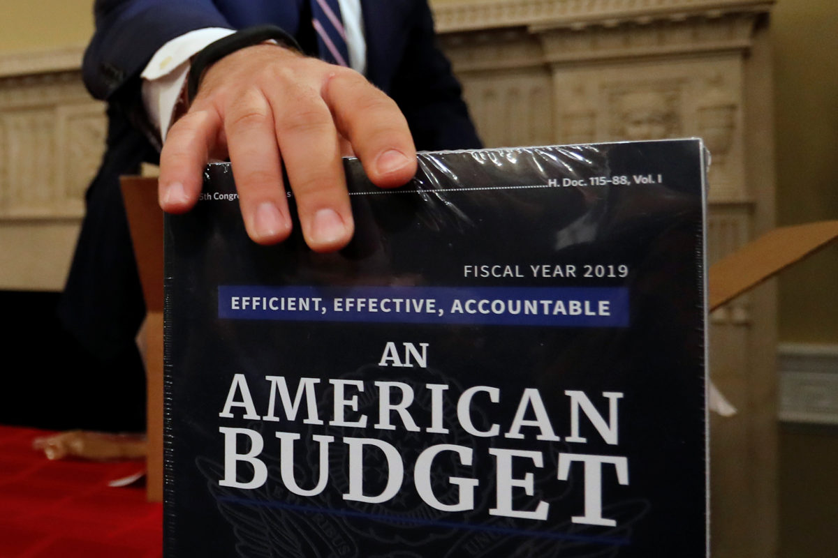 Copies of the President Trump's FY 2019 budget proposal are delivered to the House Budget Committee offices on Capitol Hill in Washington, D.C. Photo by Jonathan Ernst/Reuters