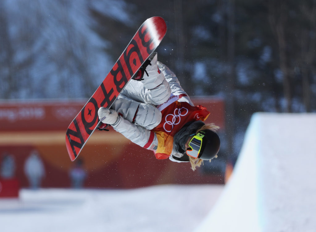 Snowboarder Chloe Kim, 17, wins gold in the women's halfpipe competition on Feb. 13. Photo by Mike Blake/Reuters