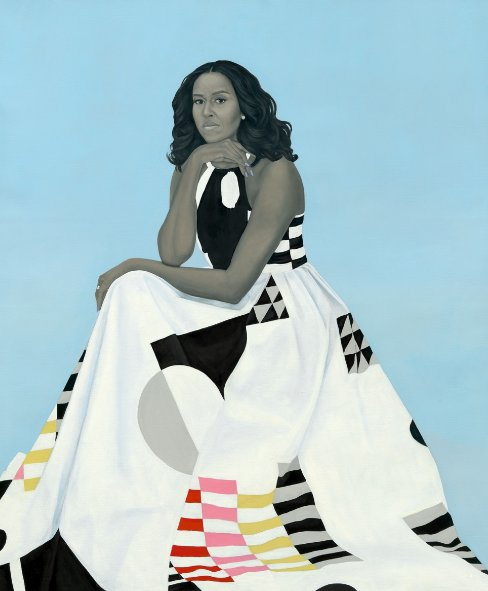 The official portrait of former first lady Michelle Obama was unveiled at the Smithsonian's National Portrait Gallery in Washington, D.C.