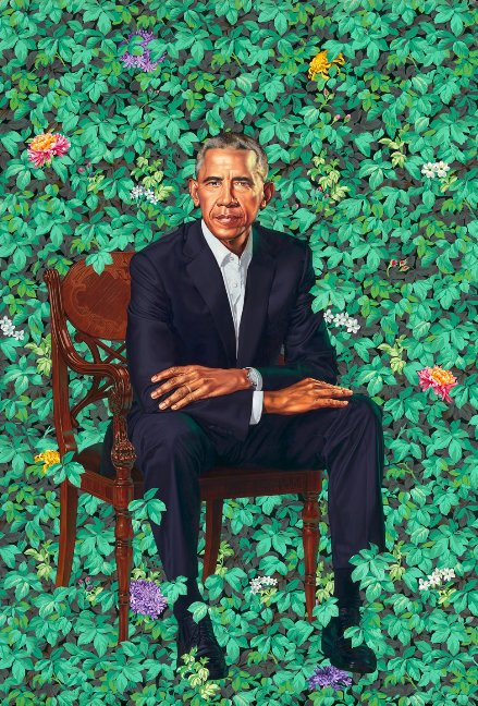 The official portrait of former President Barack Obama was unveiled at the Smithsonian's National Portrait Gallery in Washington, D.C.