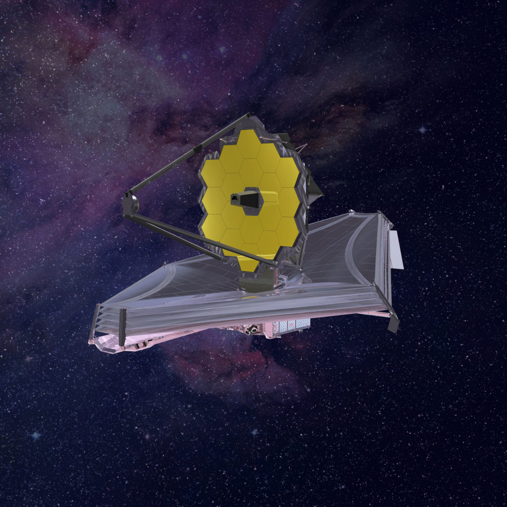 Artistic impression of the James Webb Space Telescope. Image by Northrop Grumman