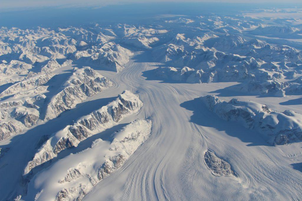 Heimdal Glacier in southern Greenland. Photo by NASA Goddard