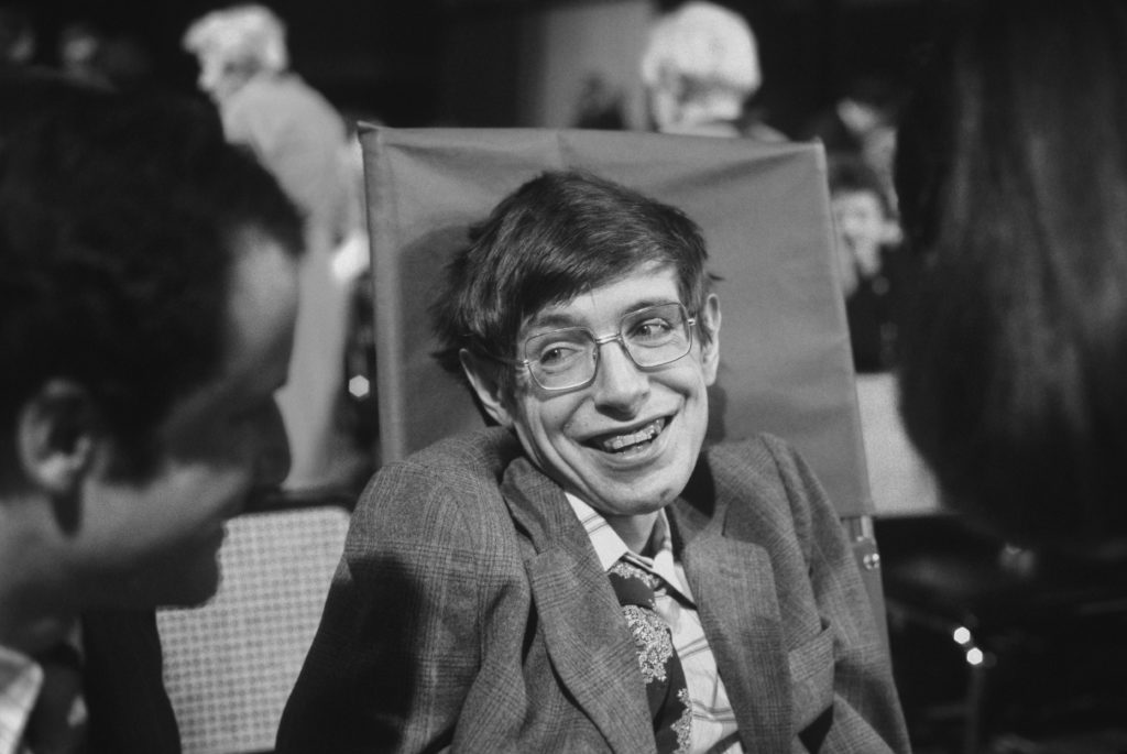 Cosmologist Stephen Hawking on October 10, 1979 in Princeton, New Jersey. Photo by Santi Visalli/Getty Images