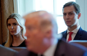 Ivanka Trump and Jared Kushner listen as U.S. President Donald Trump holds a cabinet meeting at the White House in Washington, D.C. Photo by Kevin Lamarque/Reuters