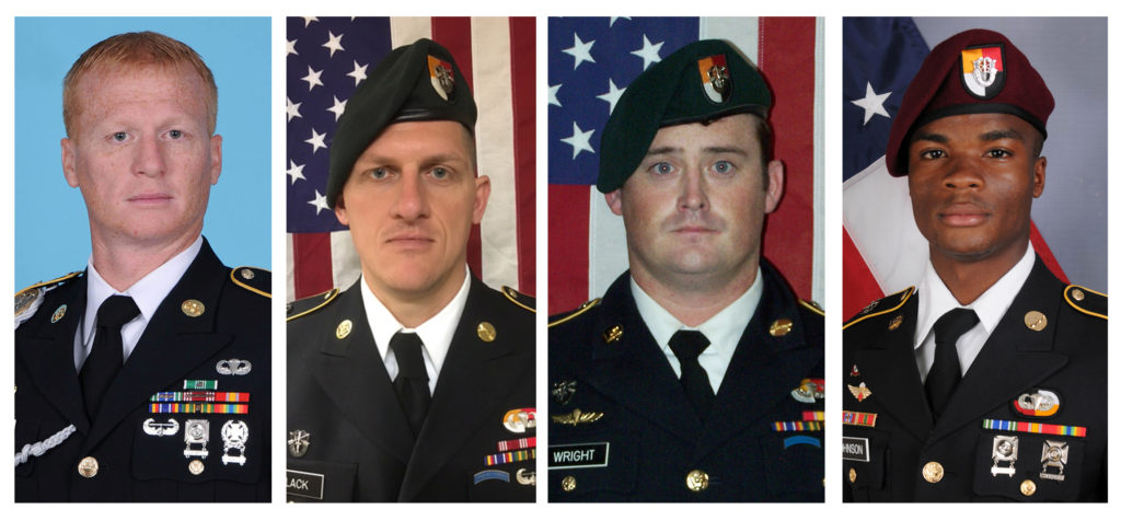 A combination photo of U.S. Army Special Forces Sergeant Jeremiah Johnson (L to R), U.S. Special Forces Sgt. Bryan Black, ...