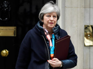 File photo of Britain's Prime Minister Theresa May by Toby Melville/Reuters
