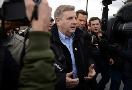 U.S. congressional candidate and state GOP Rep. Rick Saccone votes in McKeesport, Pennsylvania, on March 13. Photo by Alan Freed/Reuters