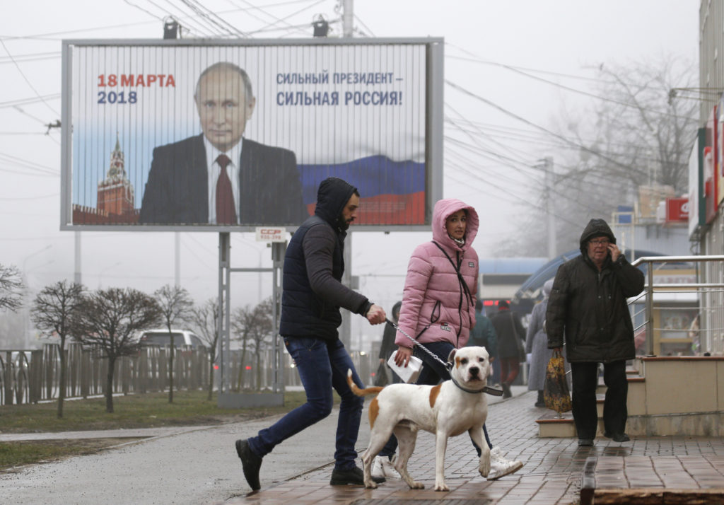 Vladimir Putin re-elected Russian president
