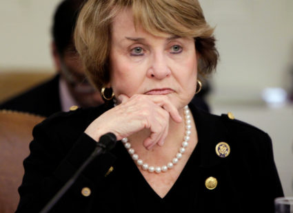 Chairwoman Louise Slaughter (D-NY) sits during the House Committee on Rules meeting on Capitol Hill in Washington March 20, 2010. Photo by Yuri Gripas/Reuters