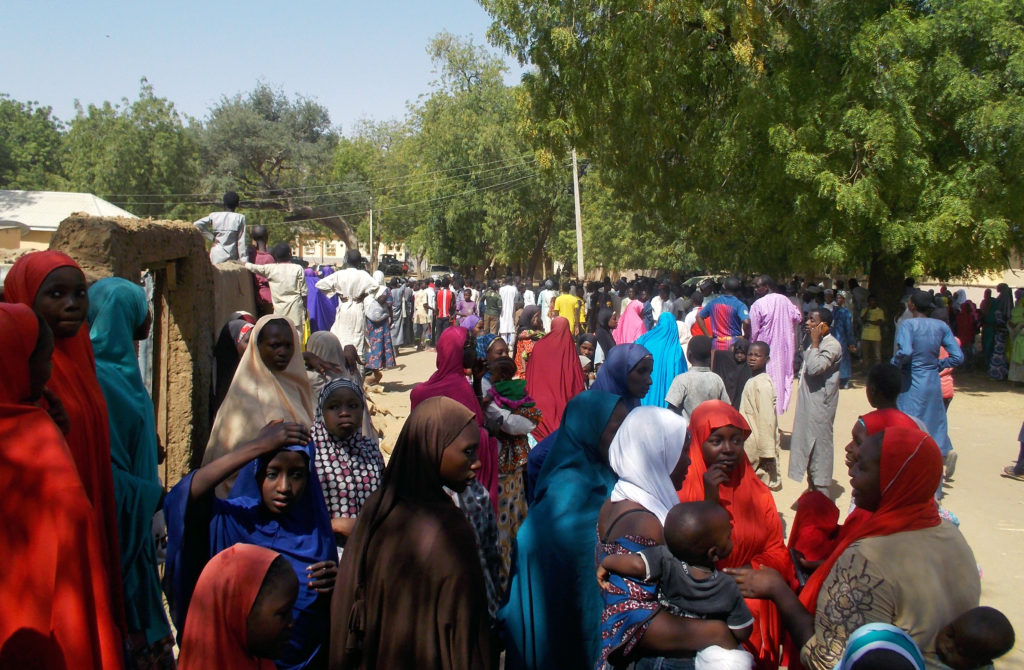 Boko Haram released more than 100 girls in the Nigerian town of Dapchi on March 21. Photo by Ola Lanre/Reuters
