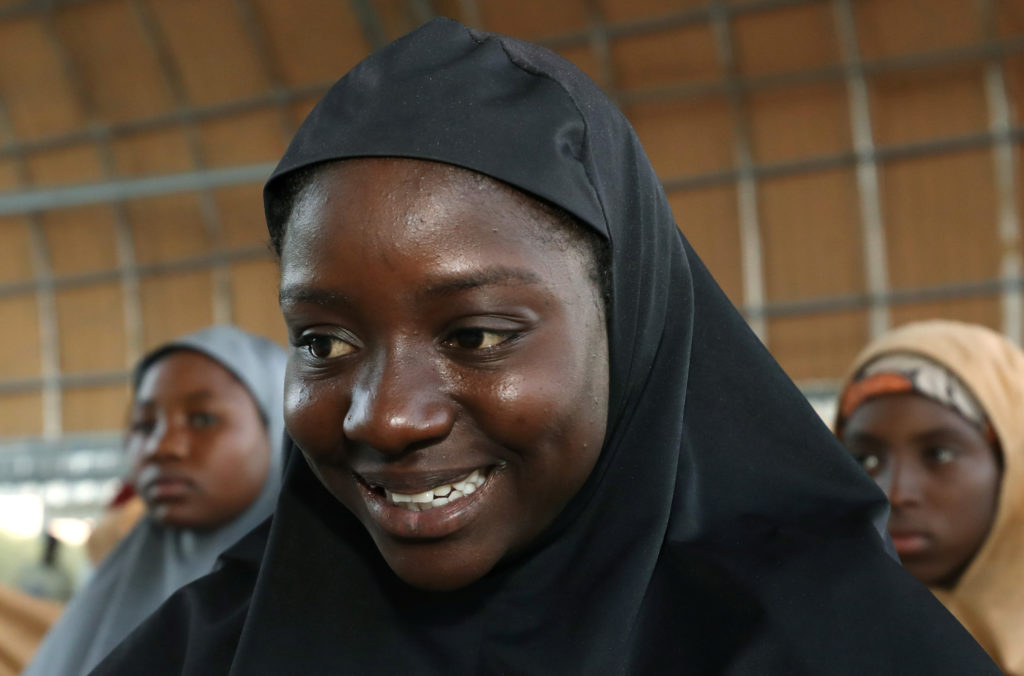 The girls were taken from a boarding school in Dapchi on Feb. 19 and released about one month later. Photo by Afolabi Sotunde/Reuters