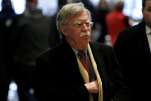 Former U.S. Ambassador to the U.N. John Bolton in New York. File photo by Mike Segar/Reuters
