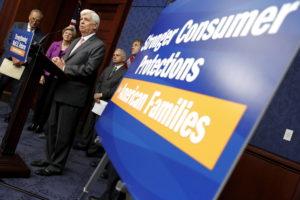 Former Sen. Chris Dodd (D-Conn.) speaks at a news conference markin…