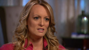 Stormy Daniels, an adult film star and director whose real name is Stephanie Clifford is interviewed by Anderson Cooper of CBS News' 60 Minutes program in early March 2018, in a still image from video provided March 25, 2018. CBSNews/60 MINUTES/Handout via REUTERS