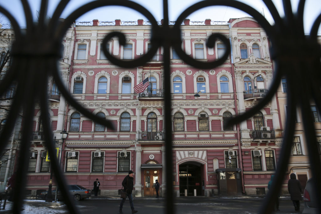 Russia to close U S  consulate in St  Petersburg, foreign