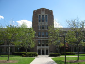 Warriner Hall, pictured here, of the Central Michigan University. Photo via Wikimedia Commons