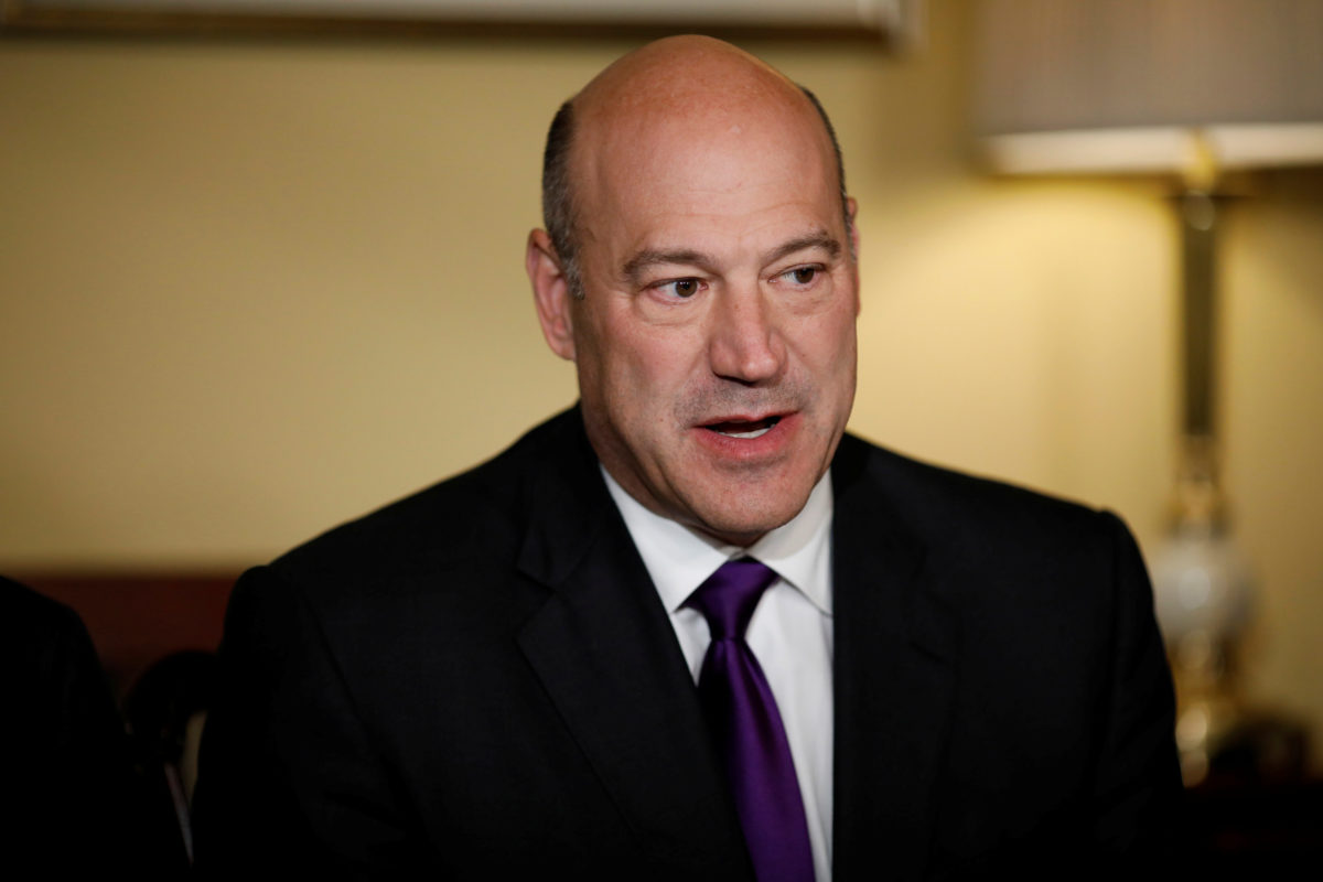 Director of the National Economic Council Gary Cohn speaks during an event to introduce the Republican tax reform plan at the U.S. Capitol in Washington, U.S., November 9, 2017. REUTERS/Aaron P. Bernstein - RC1D71407A80