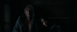 "Wes Studi, left, plays Chief Yellow Hawk, and Q'orianka Kilcher plays Elk Woman in ""Hostiles."" (Entertainment Studios Motion Pictures)"
