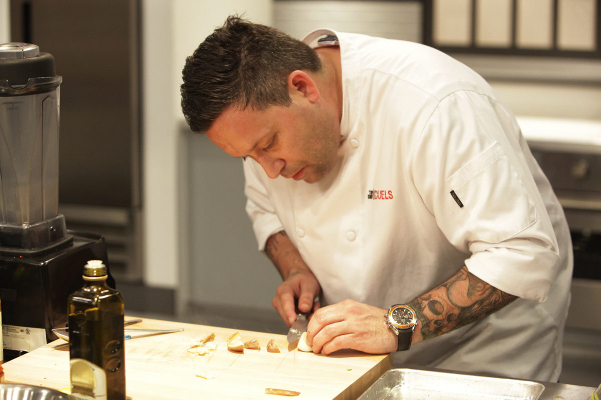 "TOP CHEF DUELS -- ""Knock Out 9"" Pictured: Mike Isabella -- (Photo by: Nicole Wilder/Bravo/NBCU Photo Bank via Getty Images)"