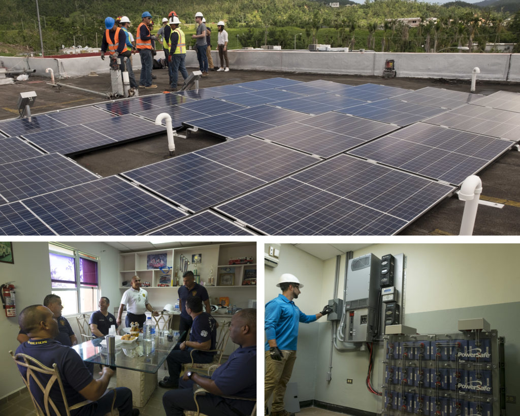 Puerto Rico Went Dark 6 Months Ago Could A Solar Smart Grid Prevent Panel Is Accompanied By Diagram These Are At Firehouse In Naguabo Humanitarian Effort Installed Microgrid With An Agm Battery One Similar To The Lead Acid Batteries Found Cars