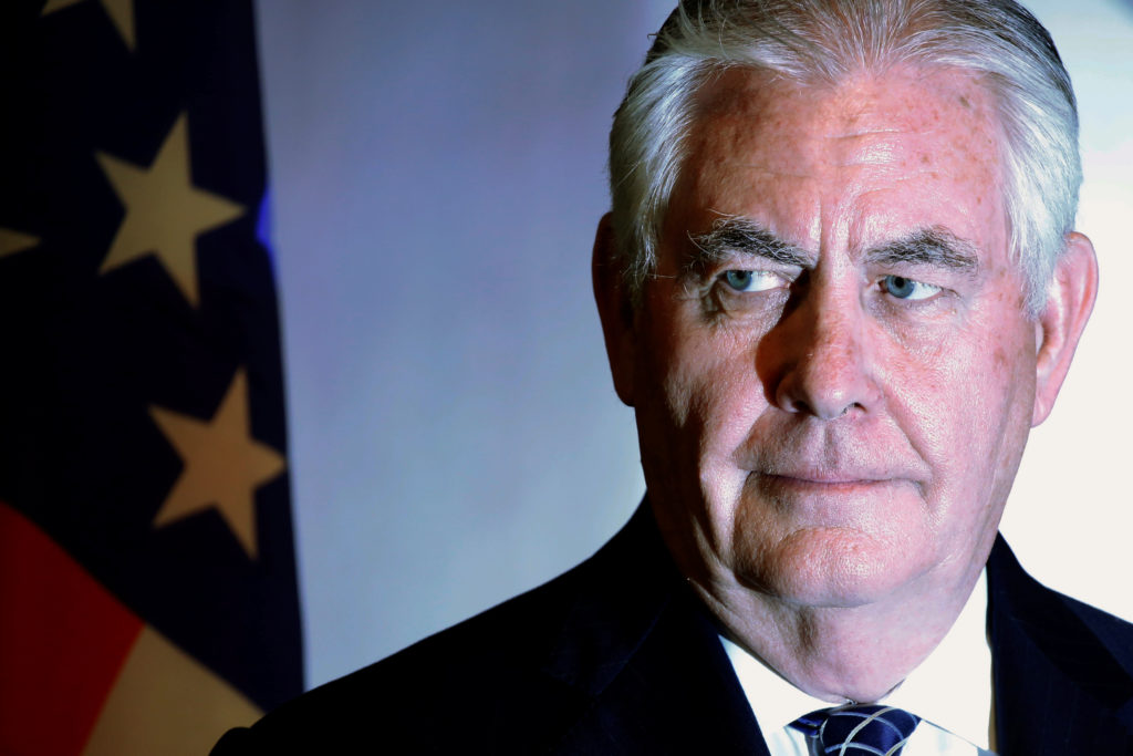U.S. Secretary of State Rex Tillerson participates in a news conference with Nigeria's Foreign Minister Geoffrey Onyeama (...
