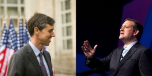 Sen. Ted Cruz, right, and U.S. Rep Beto O'Rourke, left, will face off in November's election. Photos by Reuters.