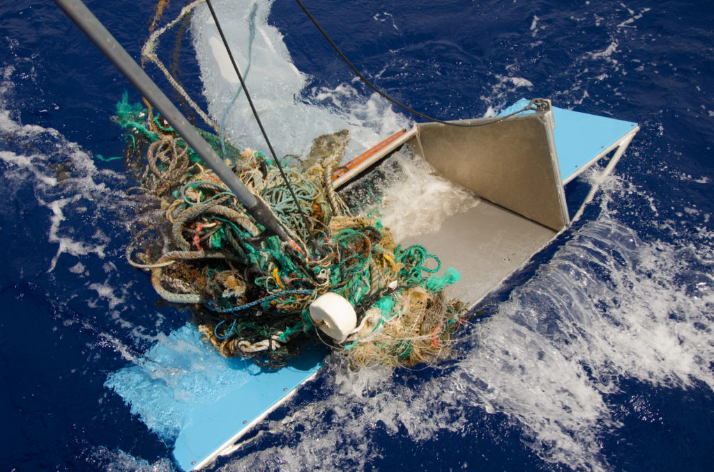 Example of a piece of megaplastic debris in 2015. It's too large to be collected by convention sampling nets. Photo by The Ocean Cleanup