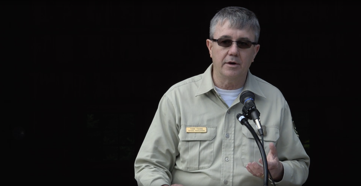 Tony Tooke , chief of the U.S. Forest Service, announced Wednesday he would step down.