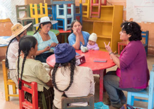 In Bolivia, women farmers are learning about nutrition. Photo courtesy of World Neighbors