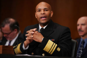 U.S. Surgeon General Jerome Adams testifies before the Senate on Nov. 15, 2017. File photo by Chip Somodevilla/Getty Images